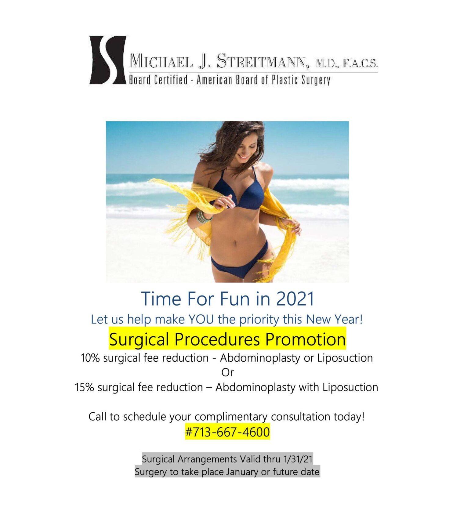 dr michael streitmann jan 2021 specials houston plastic surgeon